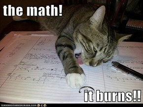 the math!  it burns!!