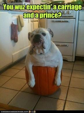 You wuz expectin' a carriage and a prince?