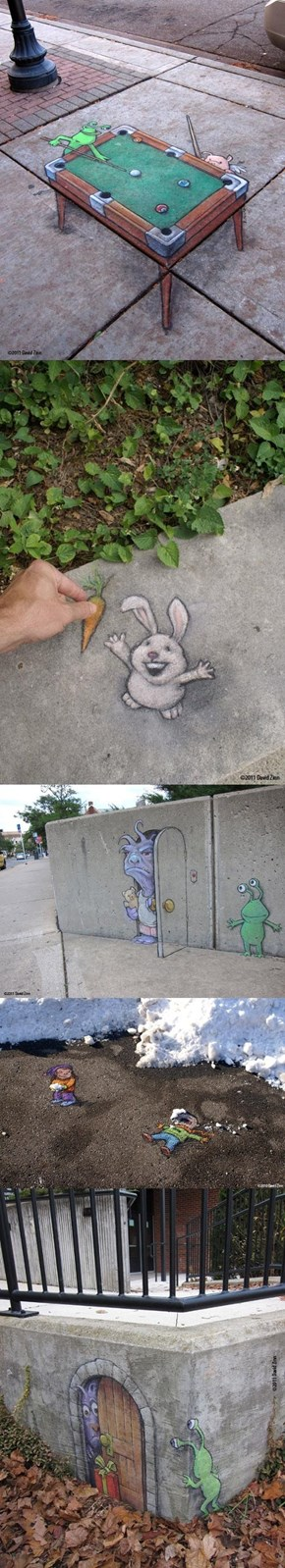 The Chalk Art of David Zinn
