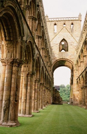 The Groomed Lawn of Jedburgh Abbey