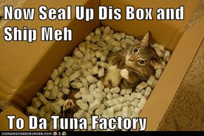 Now Seal Up Dis Box and Ship Meh   To Da Tuna Factory