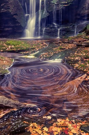 Elakala Falls and Its Colorful Swirls