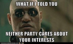 WHAT IF I TOLD YOU  NEITHER PARTY CARES ABOUT YOUR INTERESTS