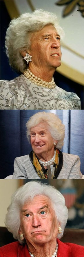 Joe Biden Is Barbara Bush