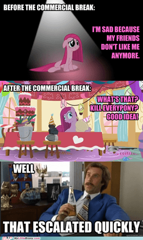 No Friends And No Parties Makes Pinkie Go Crazy