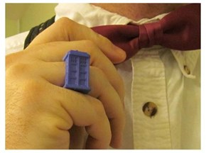 3D Printed Tardis Ring