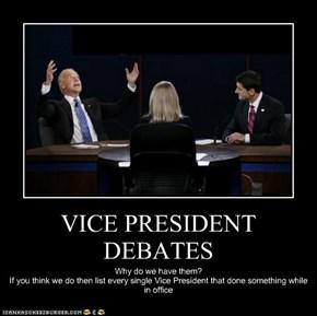 VICE PRESIDENT DEBATES