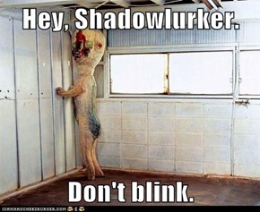 Hey, Shadowlurker.  Don't blink.