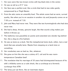 Really Bad Analogies Written By High School Students
