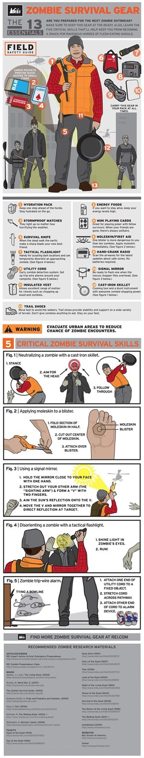 Zombie Survival Infographic
