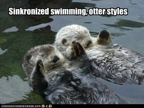 Sinkronized swimming, otter styles