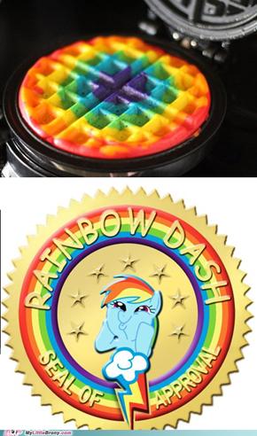 Looks like a sonic rainboom...waffle