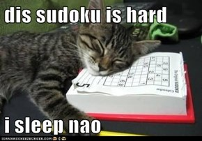 dis sudoku is hard  i sleep nao