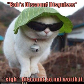 """Bob's Discount Disguises""  **sigh** Discount so not worth it"