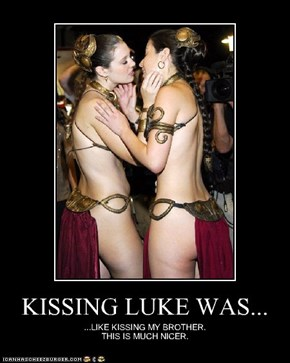 KISSING LUKE WAS...