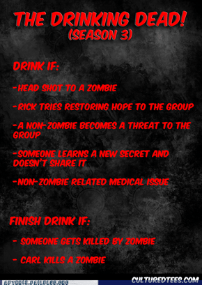Walking Dead Drinking Game!