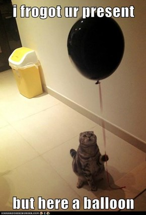 i frogot ur present  but here a balloon