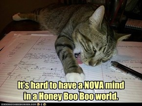 It's hard to have a NOVA mind in a Honey Boo Boo world.