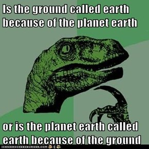 Is the ground called earth because of the planet earth  or is the planet earth called earth because of the ground