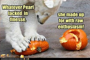 Forget Jack-O-Lanterns, she was going straight to PIE!