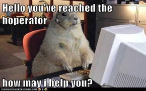 Hello you've reached the hoperator  how may i help you?