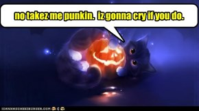 no takez me punkin.  iz gonna cry if you do.
