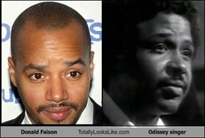 Donald Faison Totally Looks Like Odissey singer