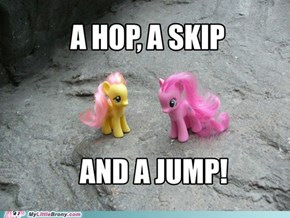 A hop, a skip and a jump!