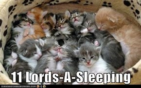 11 Lords-A-Sleeping