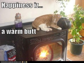 Happiness iz... a warm butt