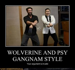WOLVERINE AND PSY GANGNAM STYLE