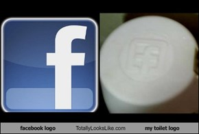 facebook logo Totally Looks Like my toilet logo