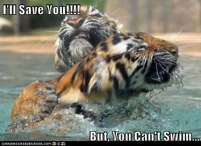 I'll Save You!!!!  But, You Can't Swim...