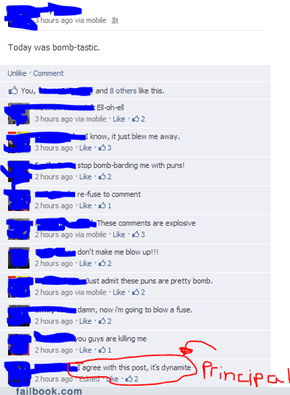 Facebooking After a Bomb Threat