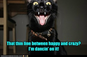 Basement Cat has a manic.