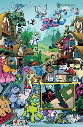 A preview of the My Little Pony comic book series