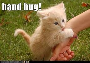hand hug!