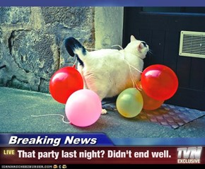 Breaking News - That party last night? Didn't end well.