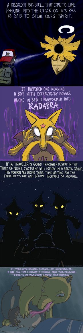 Creepy Pokedex Entries