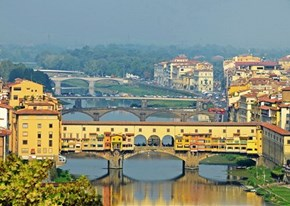 Business on the Bridge in Ponte Vecchio, Italy