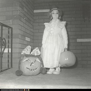 LittleAPC - Halloween '63 I'm the one without the bow in the hair. (it was a cold night, so Mama had me bundled up under the costume)