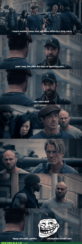 epic chuck norris is epic in expendables 2