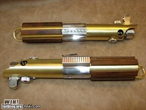 Brass and Wood Lightsaber WIN