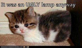It was an UGLY lamp anyway