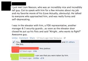 Liam Neeson: A Pretty Cool Guy, Bro