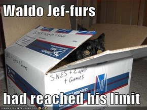 Waldo Jef-furs  had reached his limit