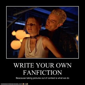 WRITE YOUR OWN FANFICTION