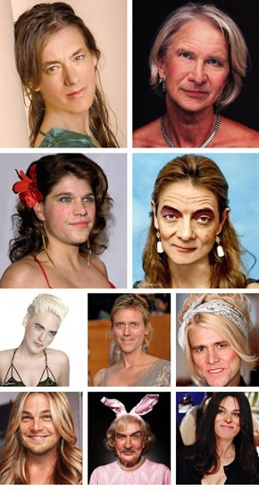 Celebrity Men as Women
