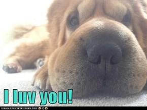 I luv you!