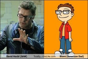 David Hackl (SAW) Totally Looks Like Steve (American Dad)